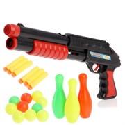 """(1015199) Ружьё """"Комбат"""", с кеглями, стреляет мягкими пулями и шарами 2624346"""