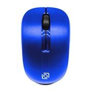 (1015301) Мышь Oklick 525MW синий оптическая (1000dpi) беспроводная USB (2but)