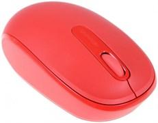 (1015297) Мышь Microsoft Mobile Mouse 1850 красный оптическая (1000dpi) беспроводная USB для ноутбука (2but)
