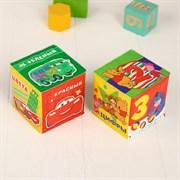 """(1015551) Обучающая игра-кубик """"Учим цвета и цифры """" Дисней р-р. 7*7см (набор 2шт) 3221622"""