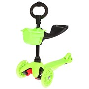 (1015535) Самокат - каталка стальной OT-2014/033, три колеса PU d= 125 и 80 мм, цвет зеленый 134337 2884998