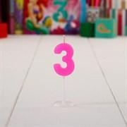 """(1015403) Свеча цифра мини на открытке """"3 года"""", Принцессы: Ариэль, 14 х 12 см 1440928"""