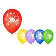 """(1015562) Шар воздушный 12"""" """"День рождения"""" котенок, 1 ст., 5 шт. МИКС   3500944"""
