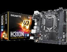 (1015668) Материнская плата Gigabyte H310N Soc-1151v2 Intel H310 2xDDR4 mini-ITX AC`97 8ch(7.1) GbLAN+VGA+DVI+HDMI