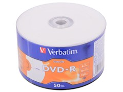 (1015702) Диск DVD-R Verbatim 4.7Gb 16x Printable OEM