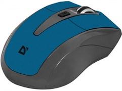 (1016050) Беспроводная оптическая мышь Defender Accura MM-965 серо-голубая (2.4 ГГц, 6 кнопок,1600 dpi, 2 х АAA)