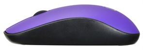 (1014603) Мышь Oklick 515MW черный/пурпурный оптическая (1200dpi) беспроводная USB (3but)