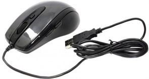 (1014595) Мышь A4 V-Track Padless N-708X-1 серый оптическая (1600dpi) USB (5but)