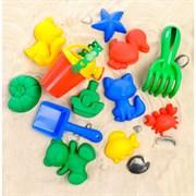 (3301622) Набор для песка №112: 9 формочек, совок, грабли, лейка, МИКС 3301622