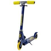 (4013632) Самокат складной GRAFFITI, колёса PVC d=100 мм, цвет синий 4013632