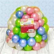 (2390634) Шарики для сухого бассейна «Перламутровые», диаметр шара 7,5 см, набор 100 штук, цвет розовый, голубой, белый, зелёный 2390634