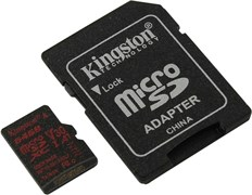 (1016178) Флеш карта microSDXC 64Gb Class10 Kingston SDCR/64GB Canvas React + adapter