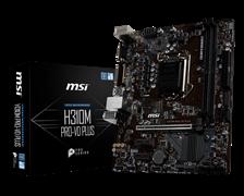 (1016260) Материнская плата MSI H310M PRO-VD PLUS Soc-1151v2 Intel H310 2xDDR4 mATX AC`97 8ch(7.1) GbLAN+VGA+DVI