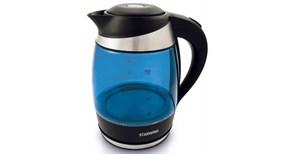 (1020367) Чайник Starwind SKG2216 1.8л. 2200Вт синий/черный (стекло)