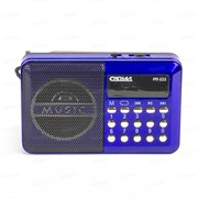 (1016286) Радиоприемник портативный Сигнал РП-222 синий/черный USB microSD