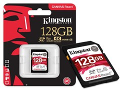 (1016438) Флеш карта SDXC 64Gb Class10 Kingston SDR/64GB Canvas React w/o adapter
