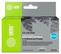 (1016422) Картридж струйный Cactus CS-L0S70AE №953XL черный (58мл) для HP OJ Pro 7740/8210/8218/8710/8715
