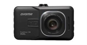 (1016498) Видеорегистратор Digma FreeDrive 108 черный 1080x1920 1080p 140гр. NTK96223