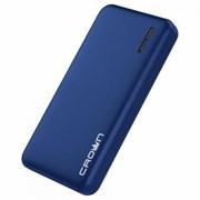 (1016586) Зарядное устройство CROWN CMPB-604 blue (power bank, 10000 mAh, Li-Pol, вход: micro-USB-5В/2А; выход: USB-5В/2А)