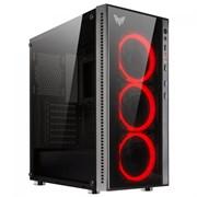 "(1016578) Корпус CROWN CMC-GS10R W/O ( Gaming, Midi Tower,МП:ATX,БП:ATX,Размеры (Ш*Г*В) 205*455*410мм; сталь 0,5мм SPCC+закалённое стекло 4мм(левая+фронтальная) ; Отсеки  3,5"" внутренний 2шт. 2,5"" внутренний 4 шт. 2*USB 2.0+ 2*USB 3.0 MIС+HD SPK .7 с"