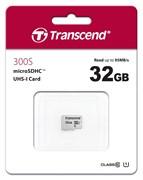 (1016624) Флеш карта microSDHC 32Gb Class10 Transcend TS32GUSD300S w/o adapter