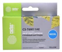 (1017159) Картридж струйный Cactus №903XL CS-T6M11AE желтый (10мл) для HP OJP 6950/6960/6970