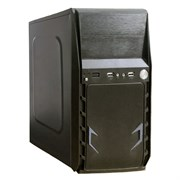 (1017528) Exegate EX280394RUS Корпус Minitower ExeGate BAA-105 Black, mATX, <AAA450, 80mm>, 2*USB, Audio