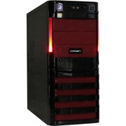 (1017806) Корпус Miditower CROWN CMC-SM162 USB3.0 black/red ATX (CM-PS450W smart) USB3.0