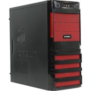 (1017807) Корпус Miditower CROWN CMC-SM162 USB3.0 black/orange ATX (CM-PS450W smart) USB3.0