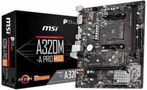 (1018020) Материнская плата MSI A320M-A PRO MAX Soc-AM4 AMD A320 2xDDR4 mATX AC`97 8ch(7.1) GbLAN RAID+DVI+HDMI