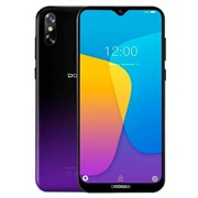 (1018089) Смартфон Doogee X90L Phantom Purple, 6.1'' 19:9 600x1280, 1.5GHz, 4 Core, 3GB RAM, 16GB, up to 128GB flash, 5Mpix+8Mpix/5Mpix, 2 Sim, 2G, 3G, LTE, BT, Wi-Fi, GPS, Micro-USB, 3400mAh, Android 9.0 (Pie), 150g, 156,8 ммx75,25 ммx9 мм, Waterdro