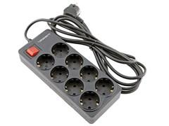 (1018121) Сетевой фильтр Ippon BK-238 3м (8 розеток) черный (коробка)
