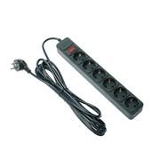 (1018312) Сетевой фильтр 5bites SP6B-150 6S / 3*0.75MM2 / 5M / BLACK