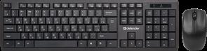 (1018339) Беспроводная клавиатура/мышь HARVARD C-945 RU BLACK 45945 DEFENDER Беспроводной набор Harvard C-945 RUчерныймультимедийный