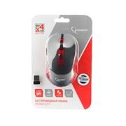 (1018056) Мышь беспров. Gembird MUSW-221-R, чёрный/красный, 5кн.+колесо-кнопка, 800/1200/1600DPI, 2.4ГГц