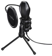(1018491) Микрофон проводной Hama Stream 2м черный