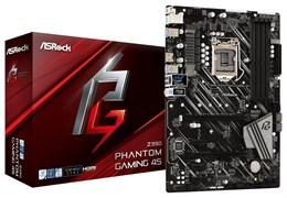 (1018480) Материнская плата Asrock Z390 PHANTOM GAMING 4S Soc-1151v2 Intel Z390 4xDDR4 ATX AC`97 8ch(7.1) GbLAN RAID+HDMI