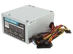 (1018589) Блок питания Aerocool ATX 400W ECO-400 (24+4pin) PPFC 120mm fan 2xSATA RTL