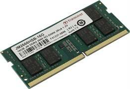 (1018666) Модуль памяти Transcend Модуль памяти Transcend 16GB JM DDR4 2666Mhz SO-DIMM 2Rx8 1Gx8 CL19 1.2V