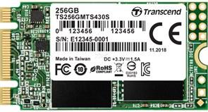 (1018680) Флеш-накопитель Transcend TS256GMTS430S Твердотельный накопитель SSD 256GB M.2 2242 SSD, SATA3 B+M Key, TLC