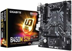 (1018619) Материнская плата Gigabyte B450M S2H Soc-AM4 AMD B450 2xDDR4 mATX AC`97 8ch(7.1) GbLAN RAID+VGA+DVI+HDM