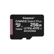 (1018882) Флеш карта microSDHC 256Gb Class10 Kingston SDCS2/256GB CanvSelect Plus + adapter