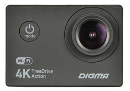 (1018898) Видеорегистратор Digma FreeDrive Action 4K WiFi черный 8Mpix 2160x3840 2160p 150гр. Allwinner V3