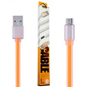 (1019119) USB кабель micro REMAX Colourful RC-005m (1m) orange