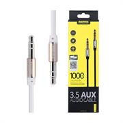 (1019098) Аудио кабель AUX Remax RL-L100 1m, white