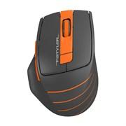 (1019051) Мышь A4 Fstyler FG30 серый/оранжевый оптическая (2000dpi) беспроводная USB (6but)
