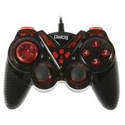 (1019419) Геймпад Dialog Action GP-A13, проводной, вибрация, для PC, PS2/3, USB, черно-красный 1571324