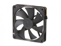 (1019371) Вентилятор Gembird, 80x80x25, гидрод., тихий, 3 pin/4pin Molex, провод 30 см