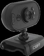 (1019359) CBR CW 836M Black, Веб-камера с матрицей 0,3 МП, разрешение видео 640х480, USB 2.0, встроенный микрофон, ручная фокусировка, крепление на мониторе, LED-подсветка, длина кабеля 1,6 м, цвет чёрный