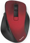 (1019611) Мышь Hama MW-500 красный оптическая (1600dpi) беспроводная USB для ноутбука (6but)